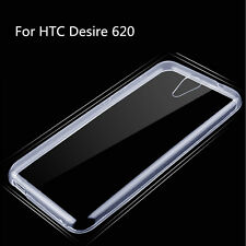 Ultra Thin Soft TPU Gel Clear Crystal Transparent Case Cover For HTC Desire 620