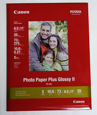 Canon OEM 8.5x11 20 glossy photo printer paper for MP470 MX310 MP210 MP140 PIXMA