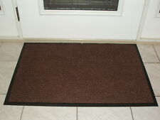 Entrance Carpeted Mat Rug with Rubber backing 2' x 3' Indoor/Outdoor - Brown