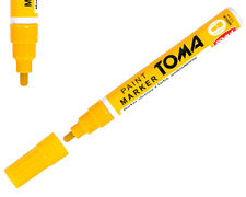 Amarillo permanente de aceite basado en Pintura Pluma Marcador De Metal Neumático De Bicicleta Coche Impermeable
