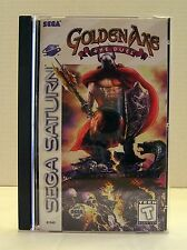 "* Golden Axe ""The Duel"" (Sega Saturn,1996) Case, Disk and Instructions Tested  *"