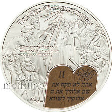 TEN COMMANDMENTS - SECOND - Biblical Stories Silver Coin 2013 Palau 2 Dollars $2