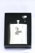 Eagle Landing 6 oz Hip Flask Personalised Falconary Gift  Boxed FREE ENGRAVING