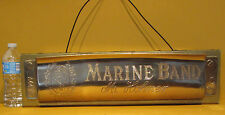 LARGE MUSIC STORE DISPLAY, HOHNER MARINE BAND HARMONICA, HUNG UP FOR 45 YEARS