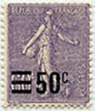 """FRANCE STAMP TIMBRE N° 223 """" SEMEUSE 1906-26 SURCHARGEE 50 C S 60 C"""" NEUF xxTTB"""