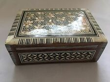Wooden Jewellery Box With Mother Of Pearl Mosaic