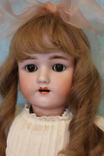 "24"" Henrich Handwerck German Bisque Doll with original clothes, brown sleep eyes"