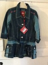 brand new girls Oilily denim dress age 3-4 years 104cms