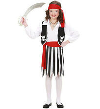 Childrens Pirate Girl Halloween Fancy Dress Costume Outfit Set 140Cm 8-10 Yrs