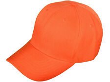 1 Dozen (12)  Orange Golf Baseball Hats Cap Caps Acrylic CHEAP!