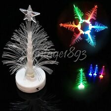 LED Multi Color Optical Fiber Christmas Xmas Electric Tree Light  Decoration