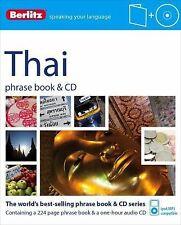 Berlitz Thai Phrase Book & CD (Thai Edition), Berlitz Publishing, New Books