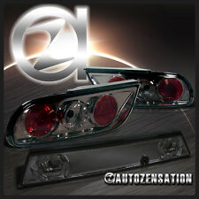 For 89-94 Nissan 240SX S13 Hatchback JDM Smoke Tail Lights+Center Trunk Piece