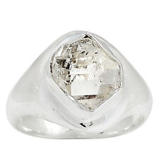 Herkimer Diamond 925 Sterling Silver Ring Jewelry s.7 HKDR1266