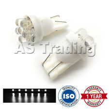 2X WHITE W5W 501 SIDELIGHT NUMBER PLATE INTERIOR REPEATER 7 DOME LED LED BULBS