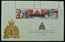 1998 Canada ROYAL CANADIAN MOUNTED POLICE 125th Anniversary Souvenir Stamp Sheet