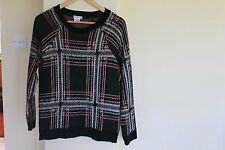 Womens Urban Outfitters Green And Red Check Fluffy Jumper- Size XS