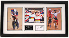 Mark Cavendish main signé photo display encadrée UCI champion du monde.