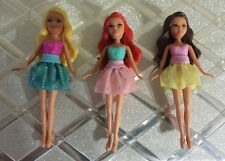 "4"" Small Mini dolls Funville Sparkle Girlz lot Blond brunette Red Cute doll lot"