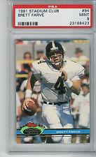 Brett Favre Farve 1991 Stadium Club #94 Rookie Card rC PSA 9 Mint QUANTITY