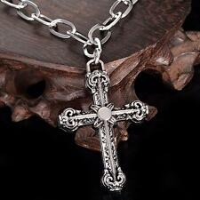 Men's NF Stainless Steel Vintage Cult Cross Pendant Necklace 30 inches