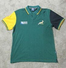 NWT South Africa 2011 Rugby World Cup Polo Shirt New Collection Cotton Green