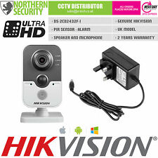 HIKVISION 4mm DS-2CD2432F-I 3MP 2MP 1080P PIR Acoustique Micro Onvif Cube
