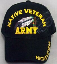 Native Pride Baseball Caps Hats - Native Veteran - Army (ECapNp481)