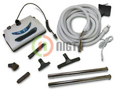 Electric Power head 35' foot hose Central Vacuum Pigtail Vac complete kit