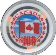 Canada Poker Chip Card Guard Casino Maple Leaf Flag