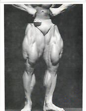 TOM PLATZ  Mr Universe Best Legs 1980 Bodybuilding Muscle Photo B+W