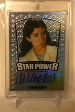 Carrie Fisher Leaf Star Power Autograph Star Wars Princess Leia SP-CFI