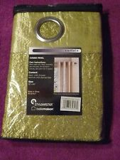 Stylemaster Cosmo Lace Grommet Panel curtain Crushed Satin Lining Avocado 55x84