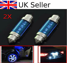 2Pcs 3 LED Light Blue 39mm Car Auto Interior Festoon Dome Lamp New Bulb Light UK