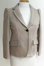 Miu Miu by Prada Beige Wool Jacket 40 uk 8