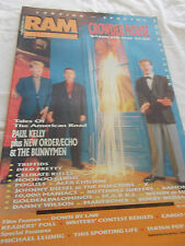 CROWDED HOUSE - RAM-OZ MUSIC MAG-1988-DOUBLE ISSUE-PAUL KELLY-NEW ORDER-TRIFFIDS