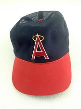 L A Angles A Logo Vintage Trucker Snap Back Navy Hat Red Bill Licensed Hat