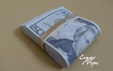 PROP MONEY USED LOOK FAT FOLD $2,000 Blank Filler for Movie, TV, Videos