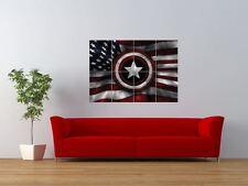 CAPTAIN america bouclier drapeau étoiles rayures géant ART PRINT POSTER panneau nor0503