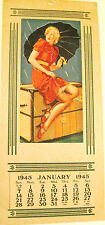 Pin-Up Art Deco Calender Glamour Girl 1945 DISTUBING ELEMENTS Gillette Elvgren