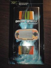 GAMER GRAPHIX SKINS SKIN PSP ORANGE WITH MULTI COLOR PATTERN NEW