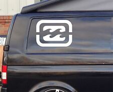 2x Extra Large Billabong d2 Funny Car/Window VW EURO Vinyl Decal Sticker 38cm