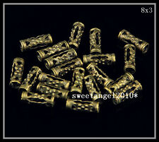 Lots 200Pcs bronze charm Hollow Tube Spacer Beads jewelry Finding 8x3mm S4