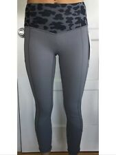 Lululemon Size 6 ALL THE RIGHT PLACES CROP Pant SLTE Slate Gray Black Run Speed