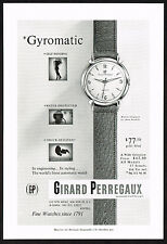 1950's Vintage Girard Perregaux Gyromatic Watch - Paper Photo Print AD