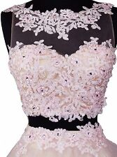 Women's SHORT Embroidery Two Piece beaded homecoming Party prom dress $169