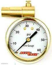 Accu-Gauge MTB CX Bike Tire Presta-Valve Dial Air-Pressure Gauge Max 60psi