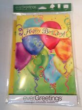 "EVERGREETINGS Greeting Card with 12.5 x 18 Inch Flag - ""HAPPY BIRTHDAY"" 14GC2530"