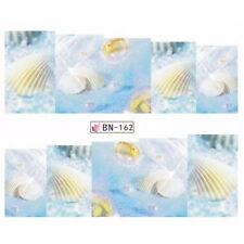 1 Sheet Water Decal Nail Art Pearl Shell Transfer Sticker Decoration DIY BN-162