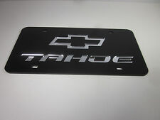TAHOE CHEVY Acrlic Mirror License Plate Auto Tag nice